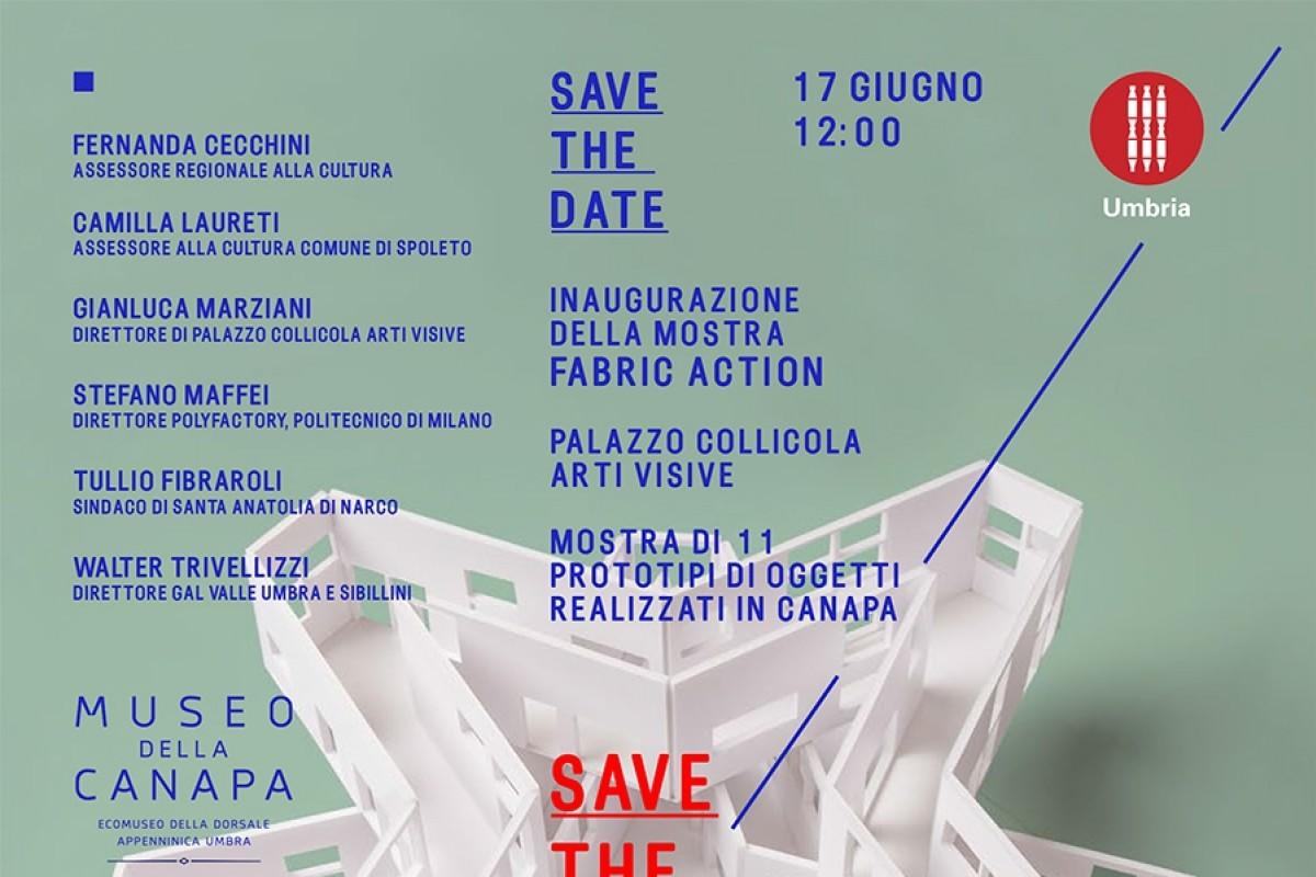 Invito inaugurazione Fabric-Action a Palazzo Collicola
